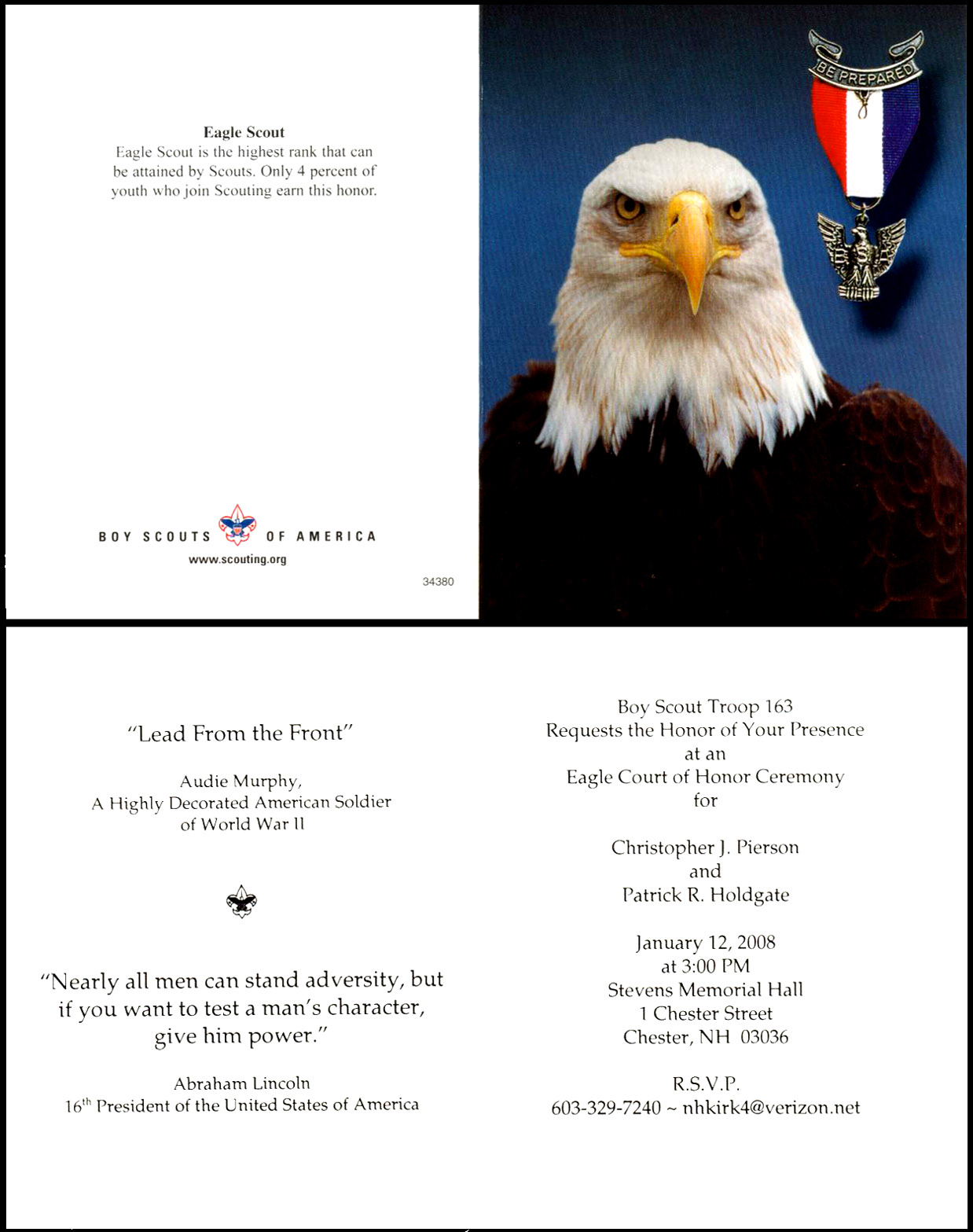 Boy Scout Eagle Invitations http://www.holdgate.us/SandownCannon/done.htm